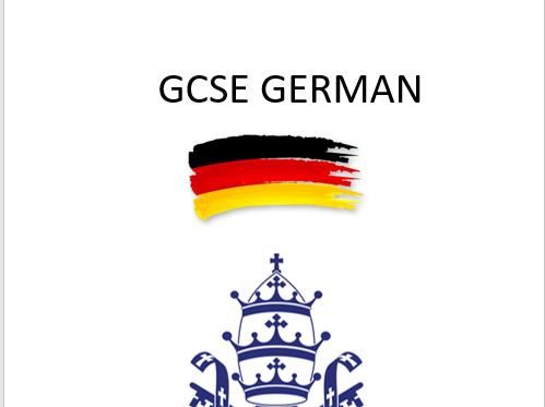 GCSE German Speaking Booklet