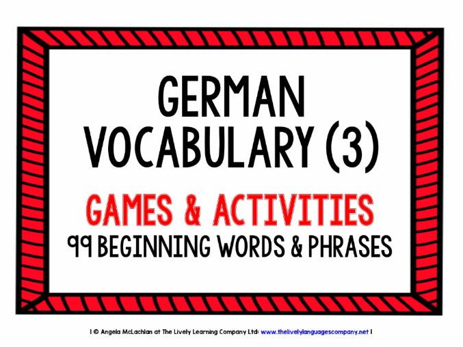 GERMAN VOCABULARY (3) - PRACTICE & REVISION - 99 WORDS & PHRASES