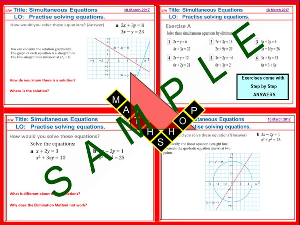 Equations  Inequalities Bundle