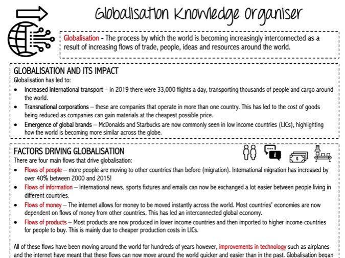 Globalisation Knowledge Organiser KS3