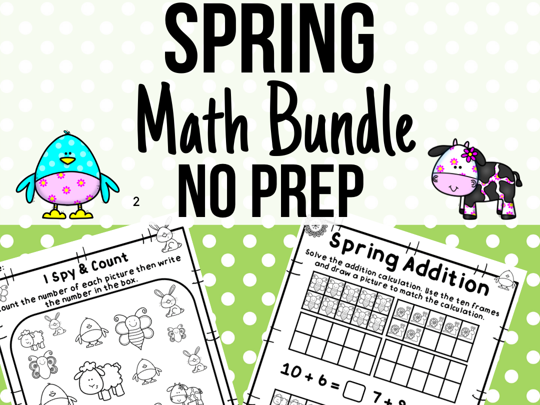 Spring Numeracy Bundle No Prep!