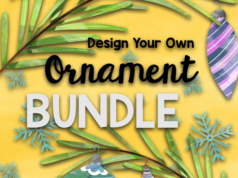 Christmas STEAM: Design an Ornament BUNDLE