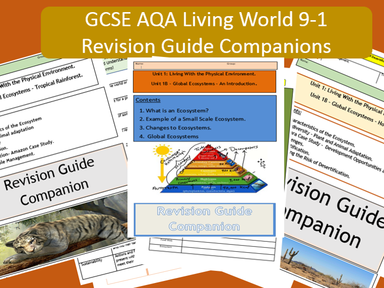 GCSE AQA 9-1 : Flipped Learning Ecosystems Revision Guide Companions. Desert Option Bundle