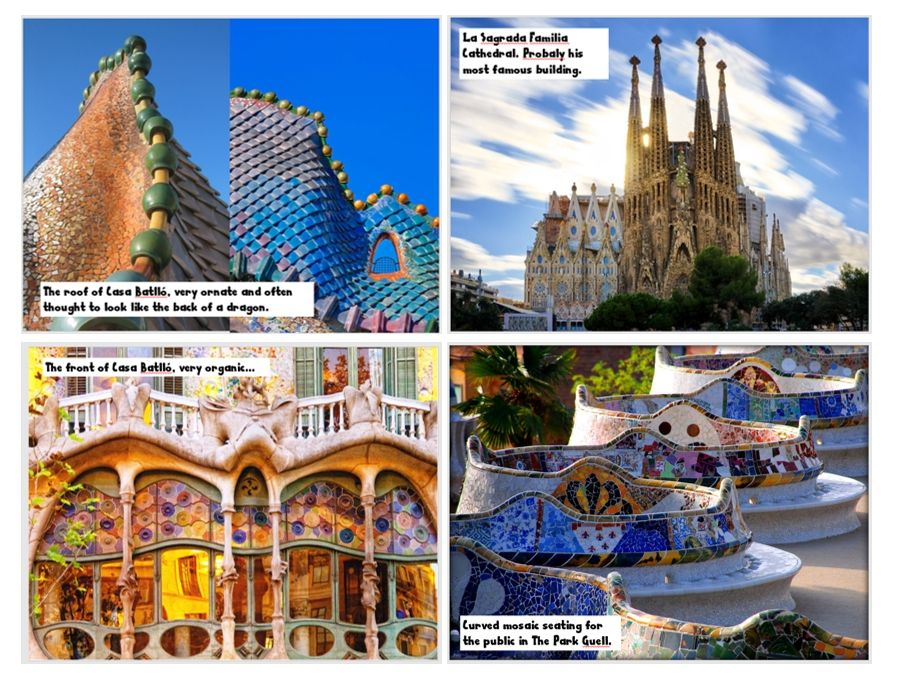 Wall Display - Design Technology - Gaudi - 9 x A3 posters + title