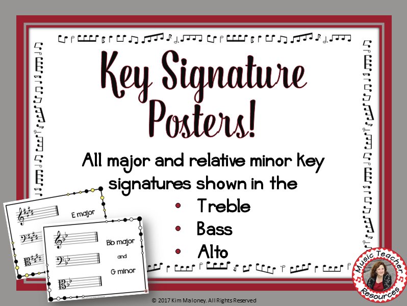 Key Signature Posters Classroom Decor Set