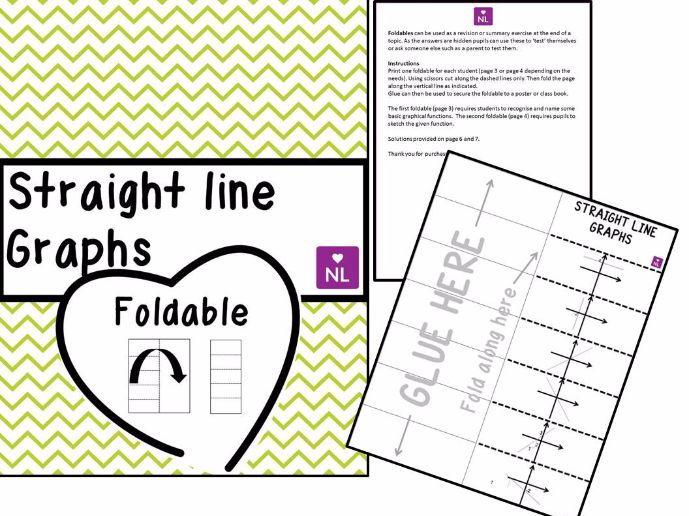 Straight Line Graphs (Foldable)