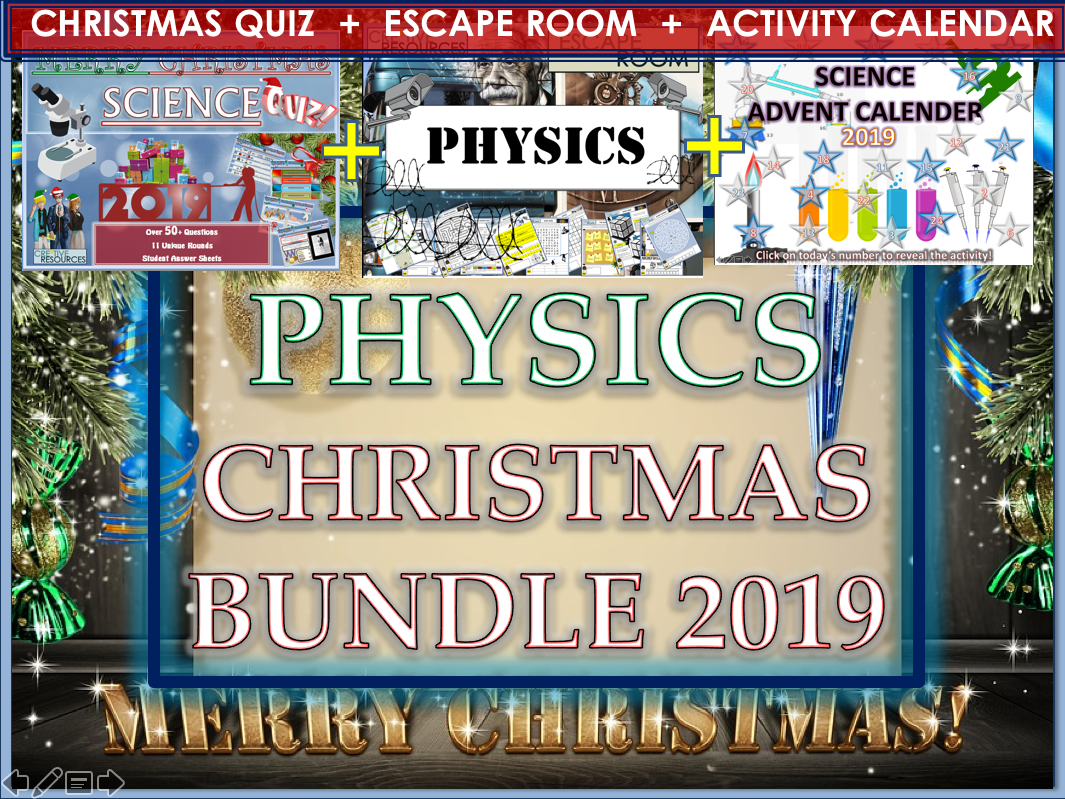 Physics Christmas 2019 Bundle - Science Quiz