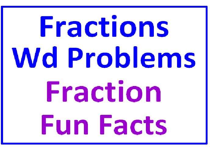 Fraction Word Problems All Operations PLUS Fraction Fun Facts (7 Worksheets)