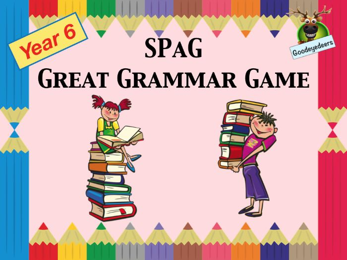 SPaG - A Great Grammar Game for Year 6