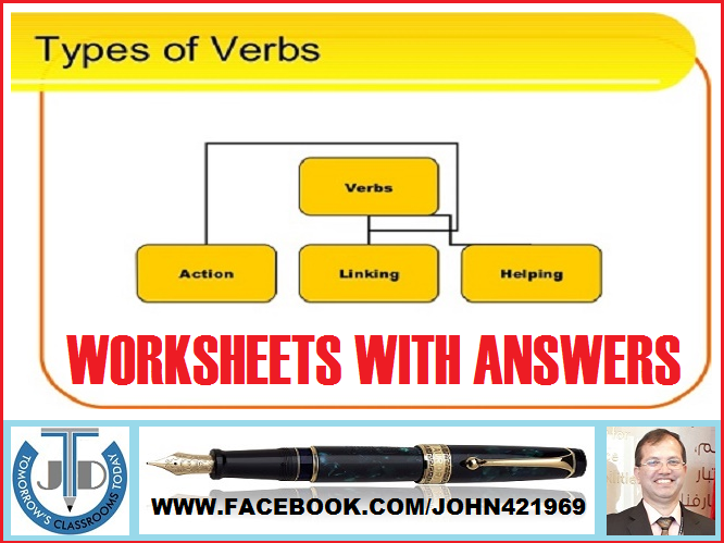 VERB TYPES: WORKSHEETS WITH ANSWERS