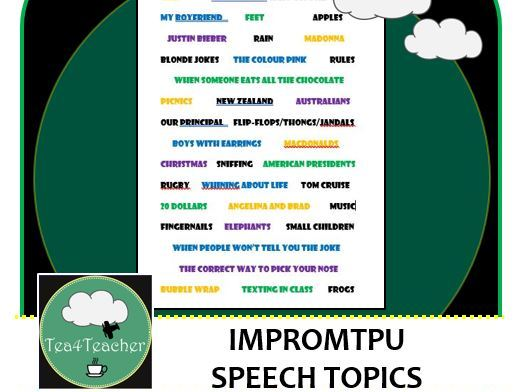 Impromptu Speech Topics - Quick Ideas for Oral Presentation Skills & Practise