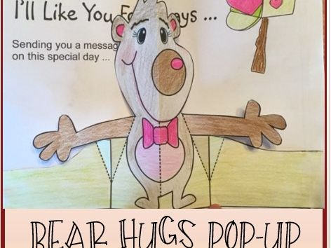 Mother's Day Crafts - Bear Hugs POP-UP