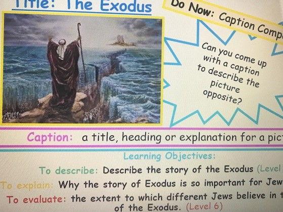 KS3 Judaism - Exodus - Lesson 4