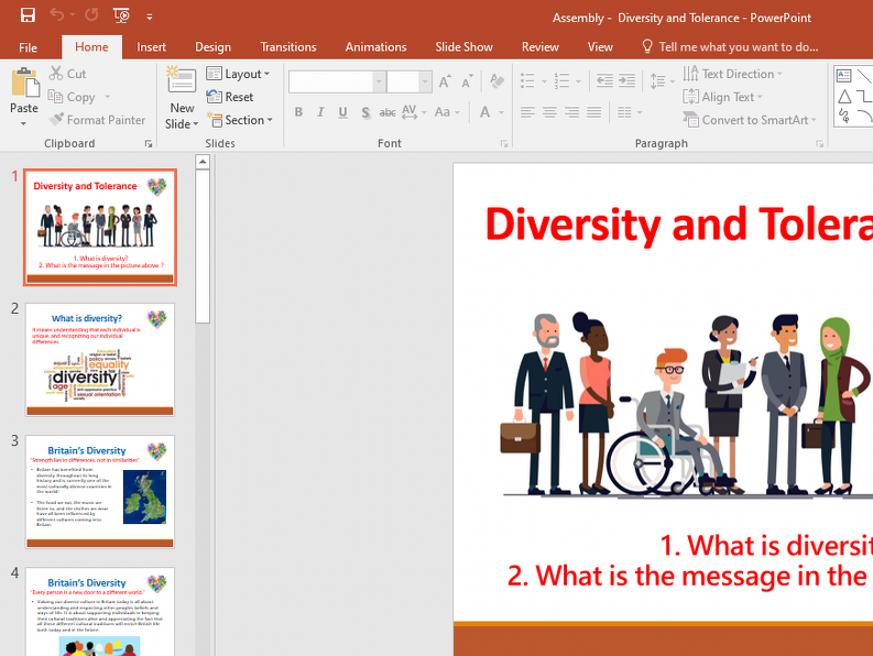 Diversity and Tolerance Assembly - Primary