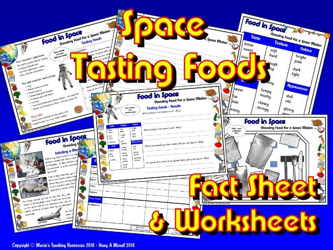 Food in Space / KS1&2 Science / Tasting Foods