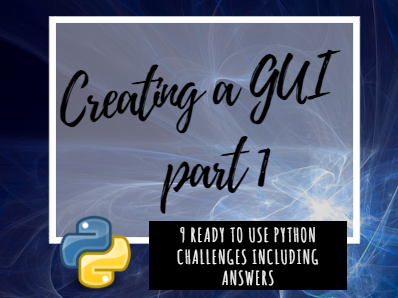 Python creating a GUI with TKinter - Part 1