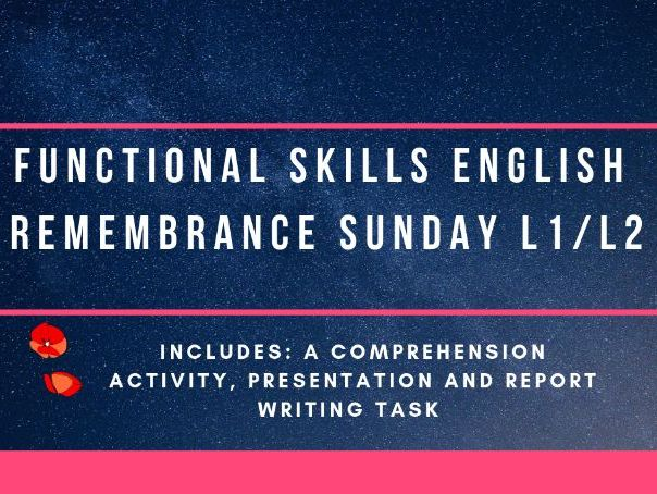 Remembrance Sunday Functional Skills English
