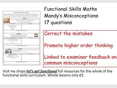 Functional Skills Maths Mandy's Misconceptions