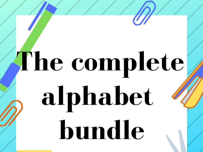 Phonics bundle. Join the dots. Alphabet