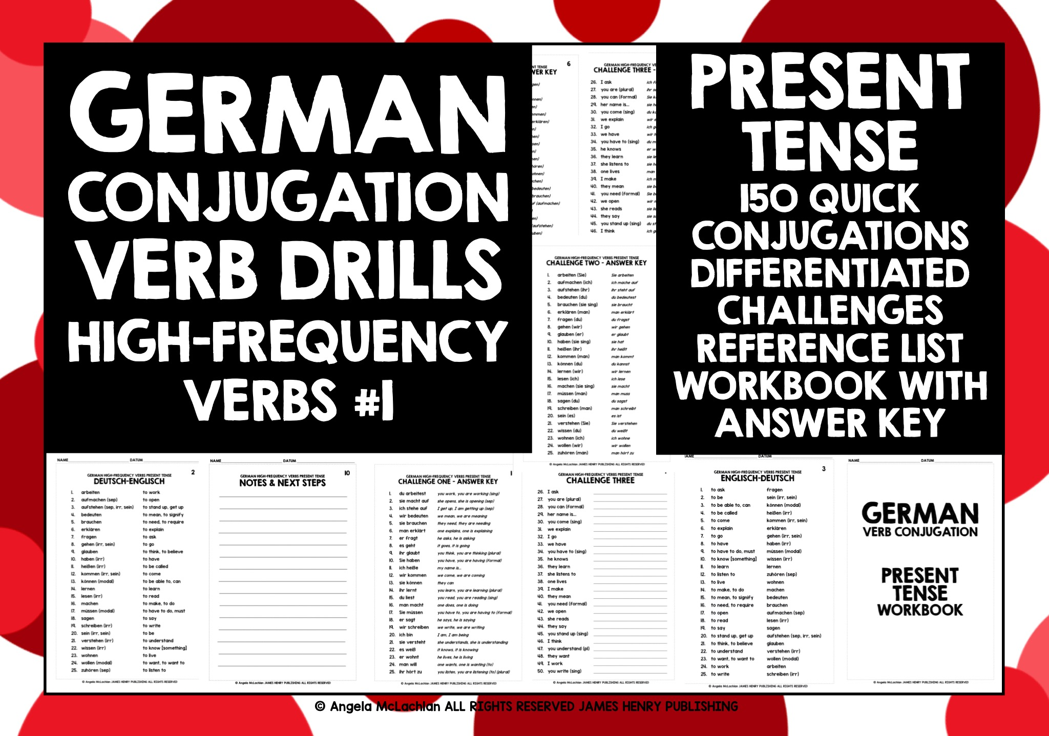 Present Tense: Conjugation Charts   Interactive Worksheet by ...