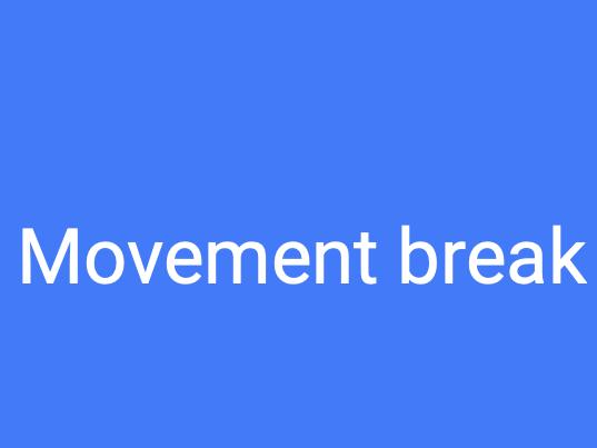 Classroom based movement breaks