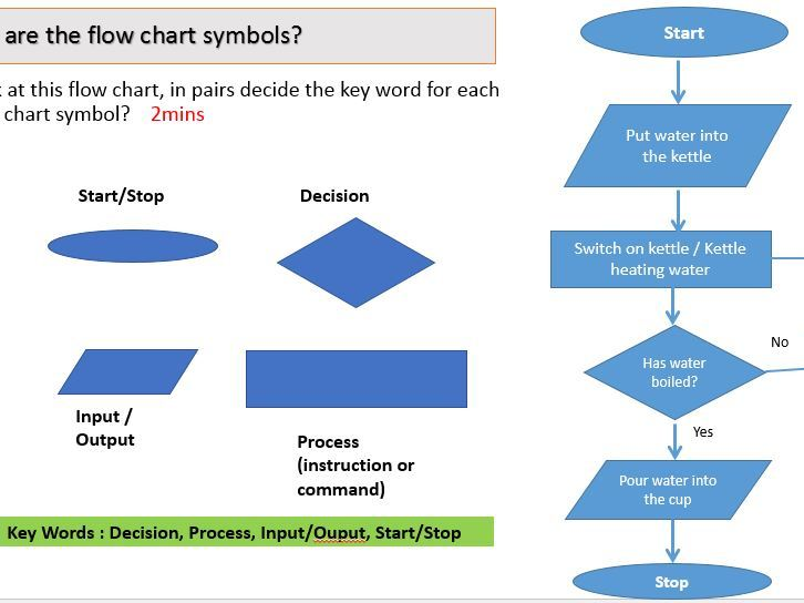 Algorithms Flow Charts Lesson By Ahandford77 Teaching Resources