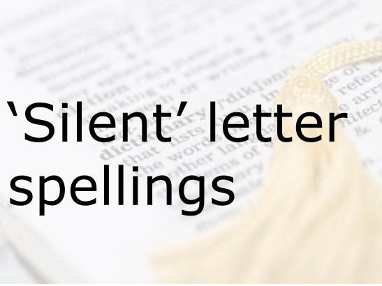Spelling silent letters powerpoint.