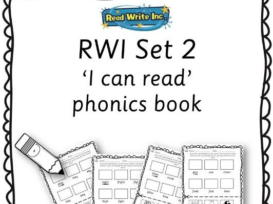 Reception / Year 1 /Year 2 - RWI phonics set 2 'I can read' workbook + set 2 flashcards
