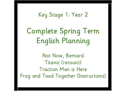 KS1 (Y2) English Overview (Cycle A) Book Planning Spring Term