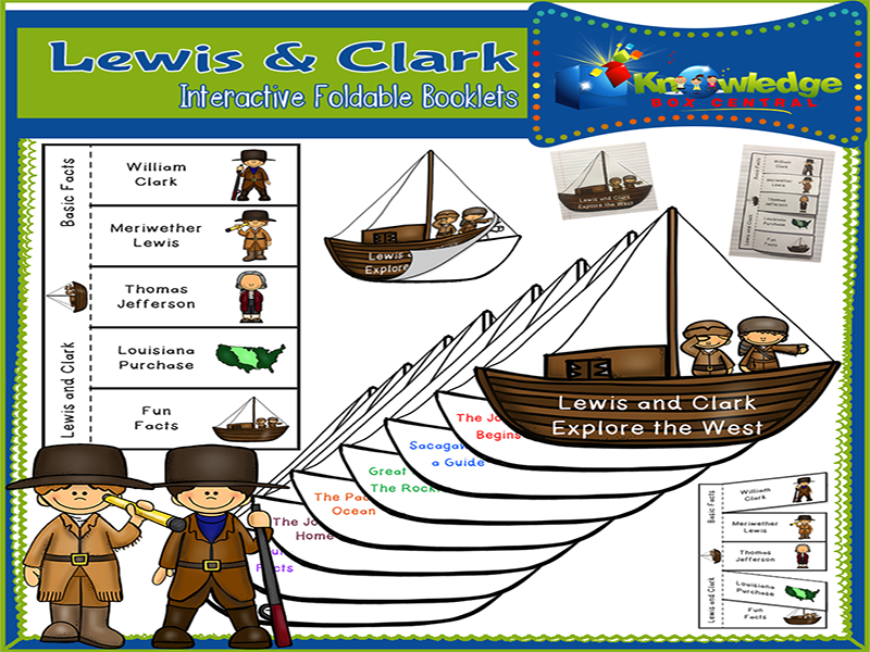 Lewis & Clark Interactive Foldable Booklets