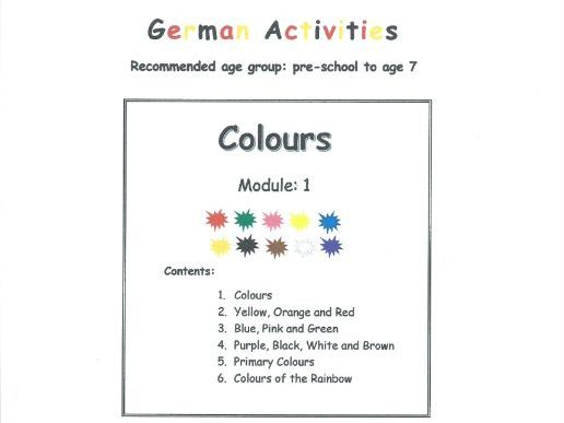 Colours - GERMAN (Module 1)