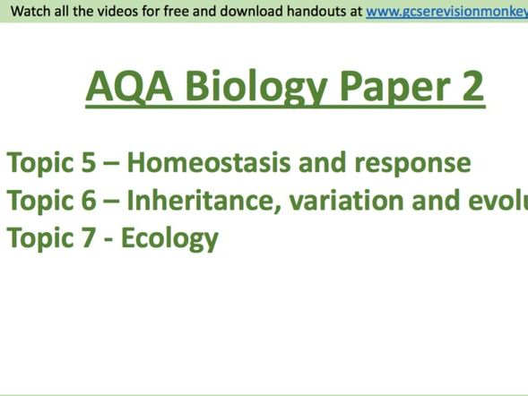 Combined Biology Paper 2