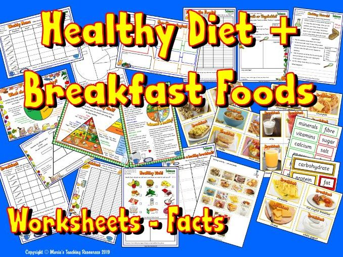 Healthy Diet - Breakfast Foods –  Science KS1