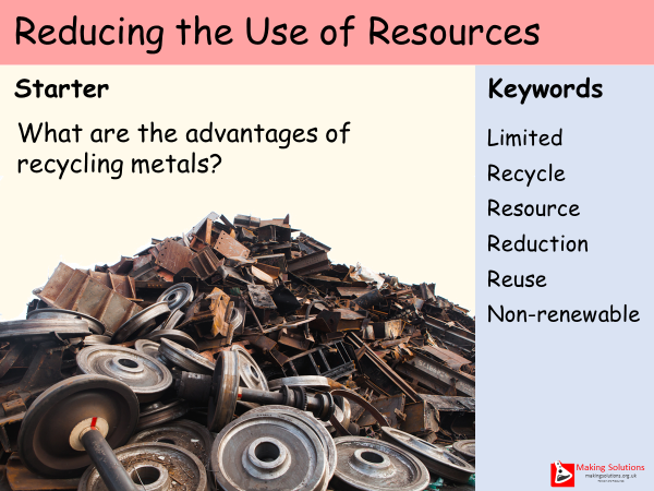 AQA Chapter 10 - Lesson 6 - Reducing Use of Resources