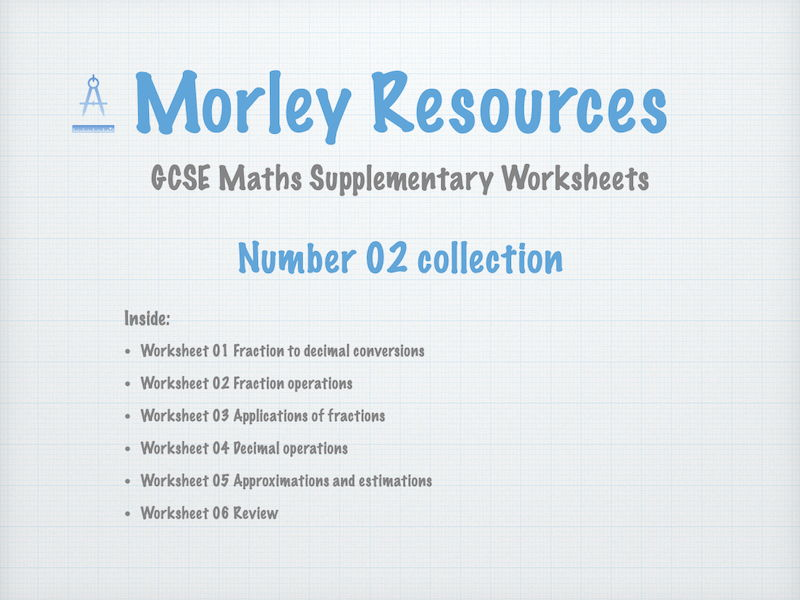 Numbers 02 GCSE Maths Collection