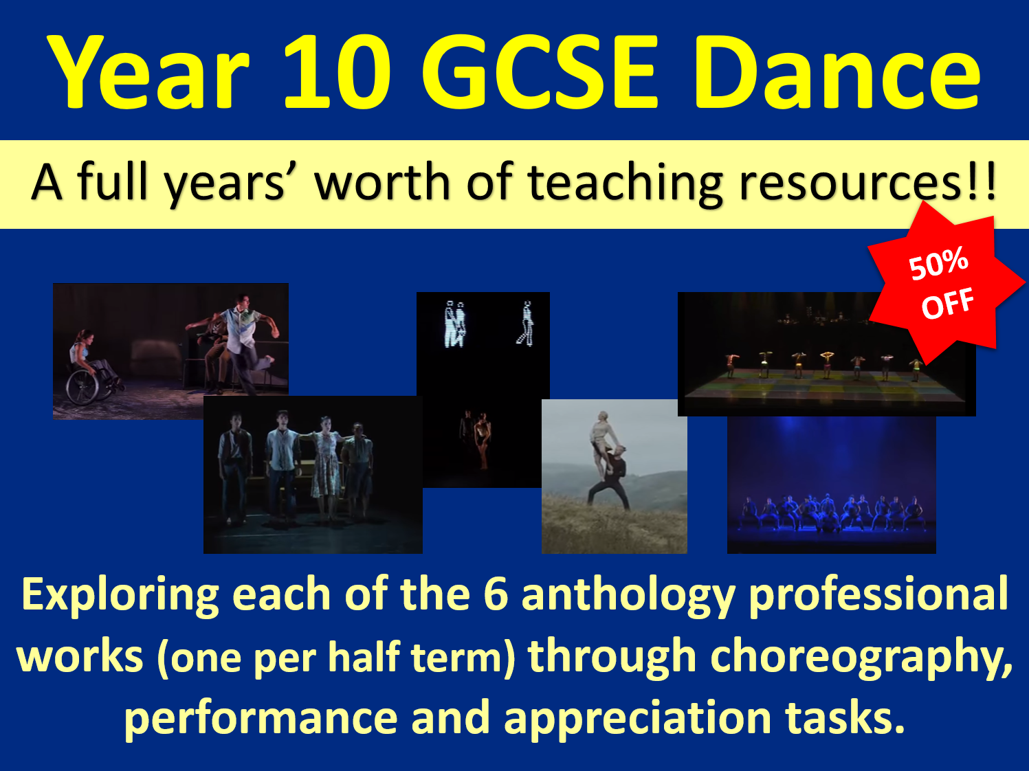 Y10 GCSE Dance: A years' worth of teaching resources!!