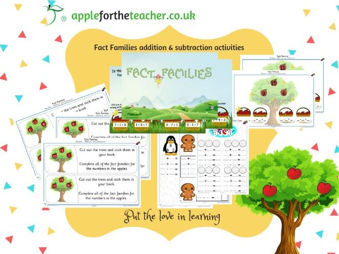 Fact Families addition and subtraction bundle of activities