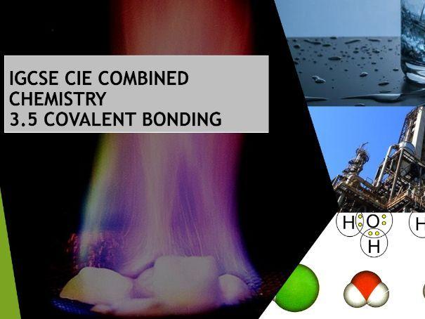 Covalent Bonding IGCSE Chemistry Cambridge CIE