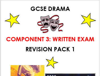 Eduqas GCSE Drama Revision Pack covering both Sec A Hard to Swallow and Sec B Live Theatre