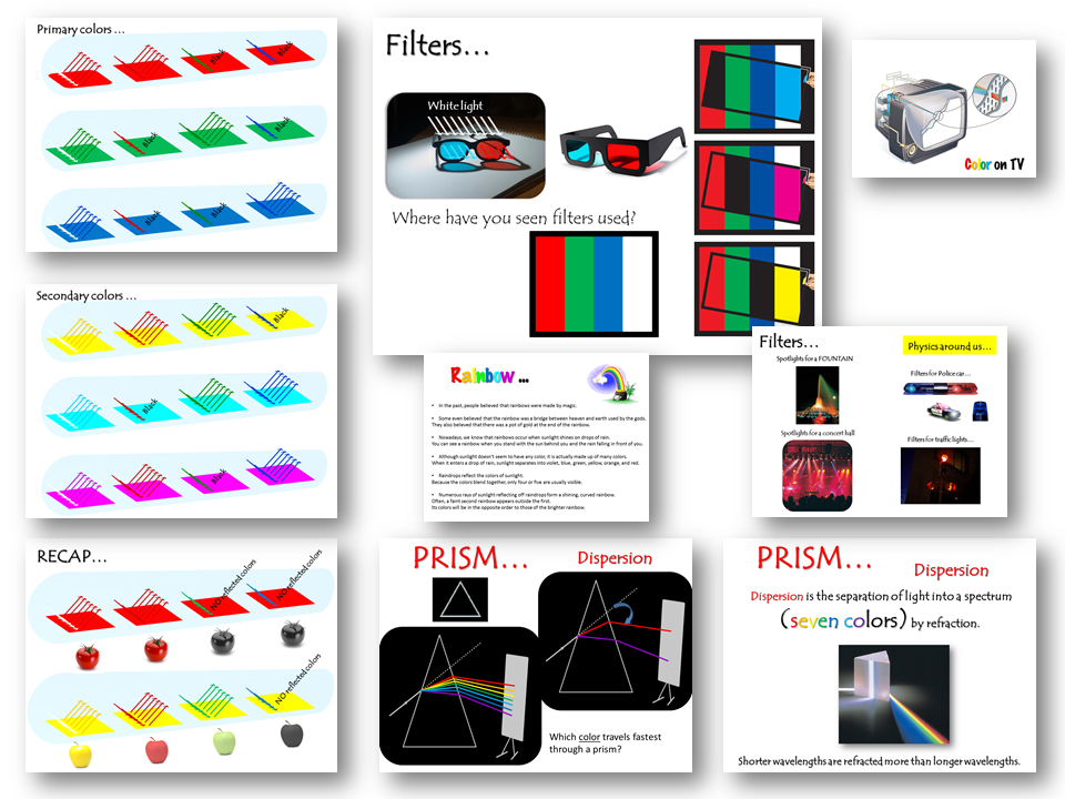 Dispersion of Light (Colors and Filters) – Lesson Presentation (PPT)