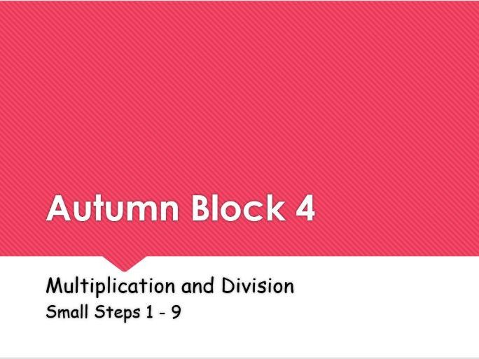 Year 5: Autumn Block 4 Multiplication and Division following White Rose Maths