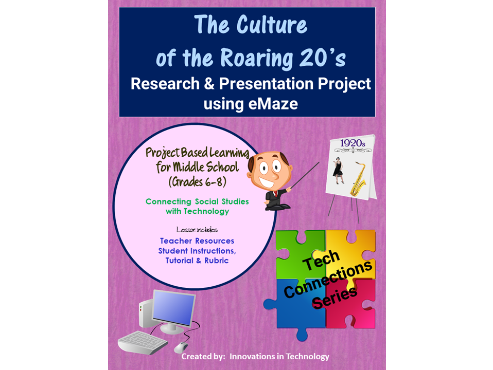 The Culture of the Roaring 20's - Research & Presentation Project in eMaze