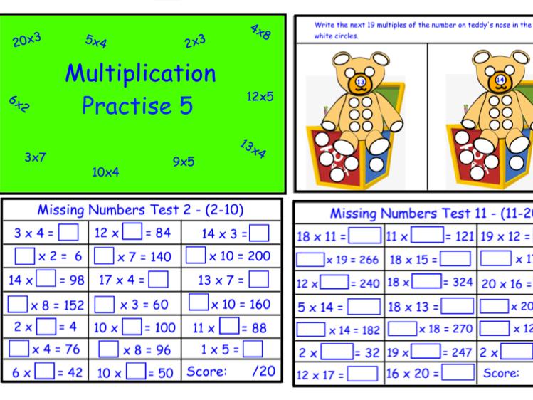 Multiplication Practise 5