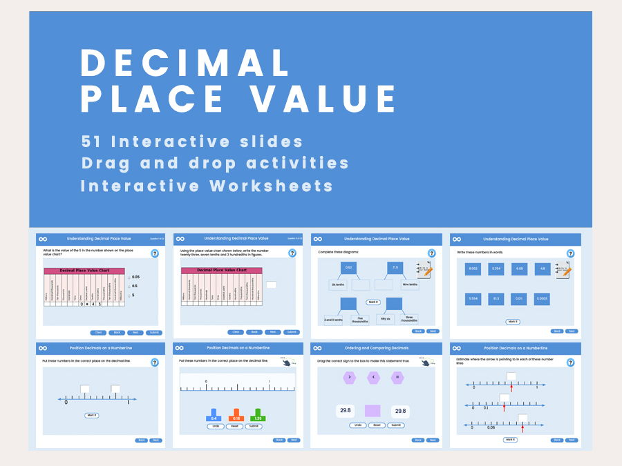Decimal place value - Year 7