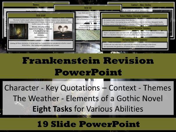 Frankenstein Revision PowerPoint