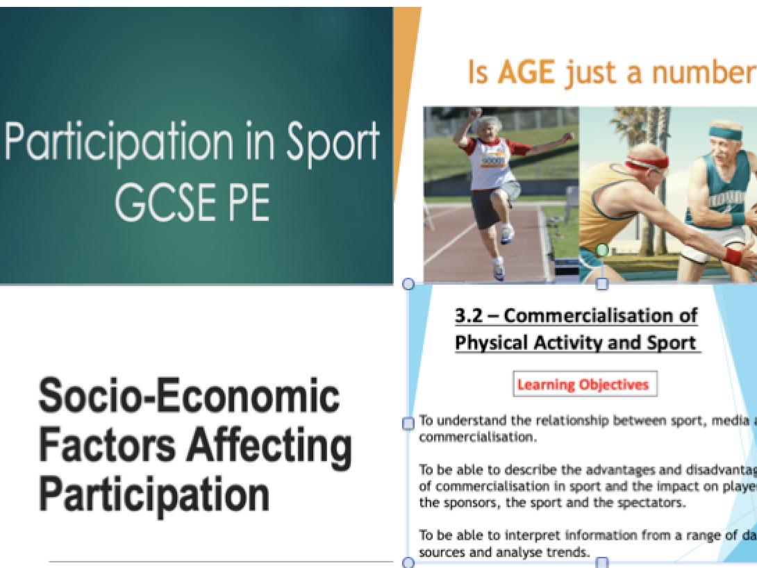 GCSE PE: Component 2, Socio-Cultural Influences