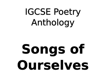 In Praise of Creation - CIE Poetry Anthology English Literature Podcast