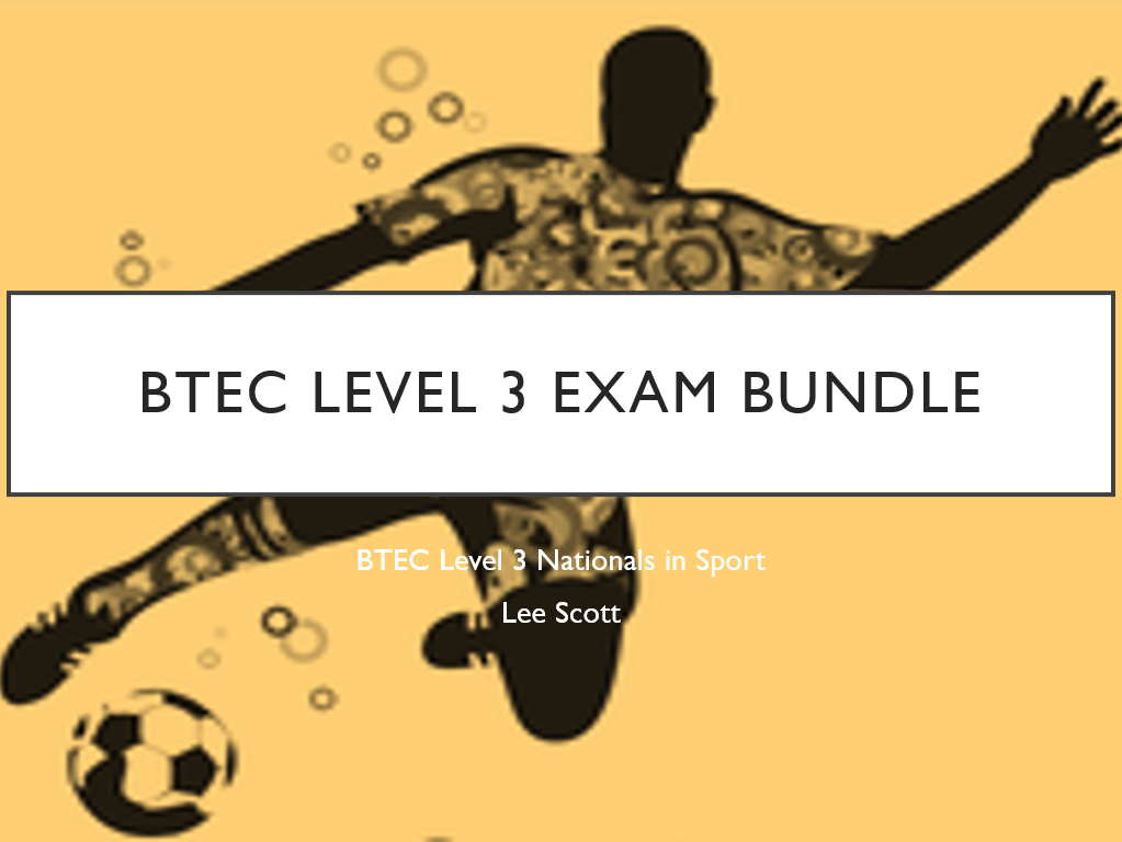 BTEC Level 3 Sport Exam Bundle