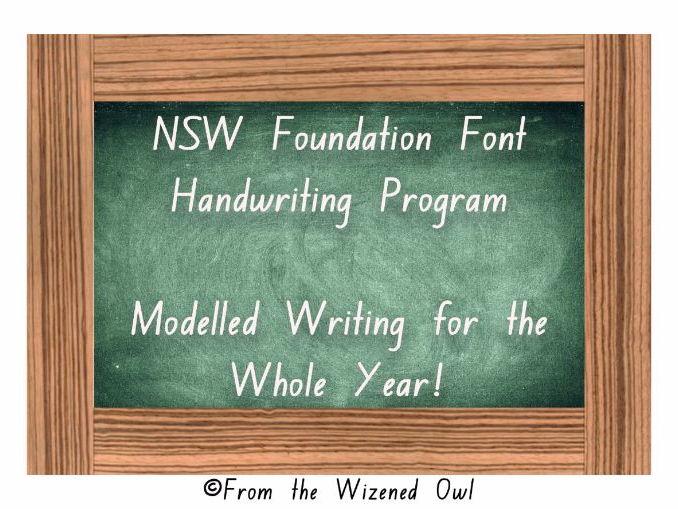 NSW Foundation Font - Handwriting Program - Interactive