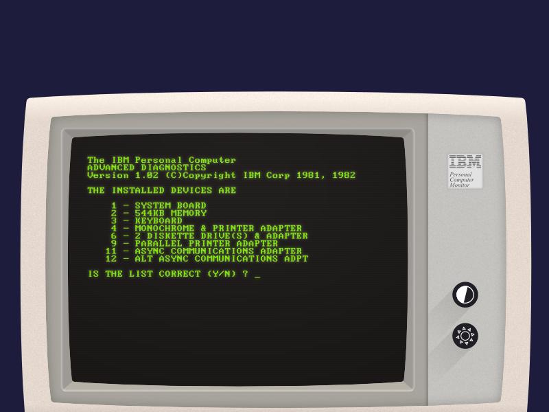 IBM 5150 - Computing History Poster #3